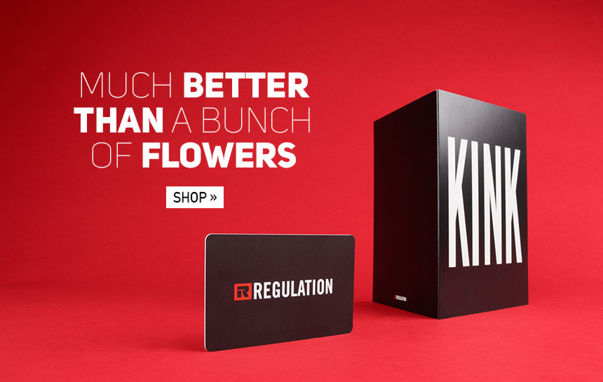 Give something different this valentines with the Regulation gift card